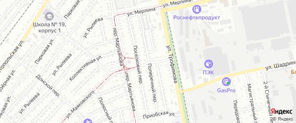 Поперечный переулок на карте Бийска с номерами домов