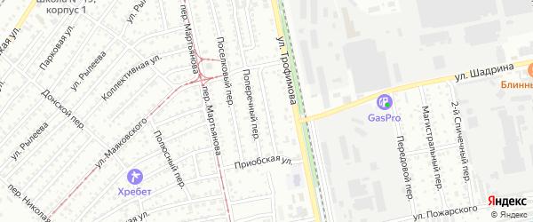 Проходной переулок на карте Бийска с номерами домов