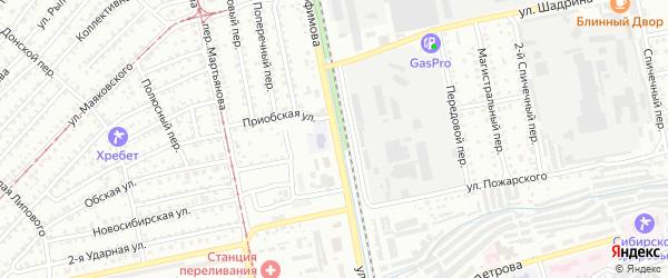 Улица имени Героя Советского Союза Трофимова на карте Бийска с номерами домов
