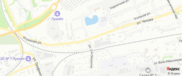 Угольная улица на карте Бийска с номерами домов