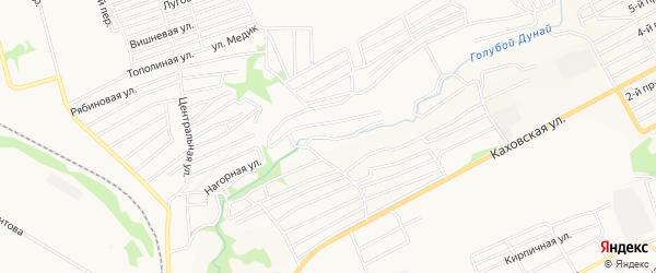 Карта садового некоммерческого товарищества Иртыша города Бийска в Алтайском крае с улицами и номерами домов
