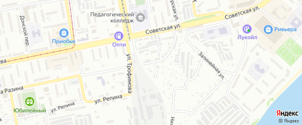 Улица Челюскинцев на карте Бийска с номерами домов