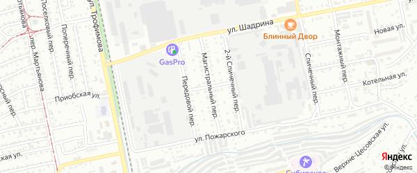 Улица Кузьмы Минина на карте Бийска с номерами домов