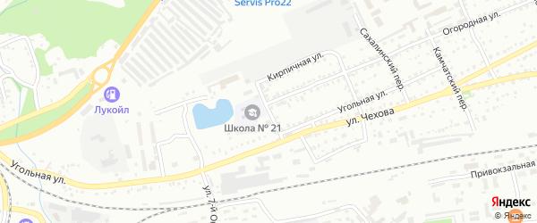 Моторный переулок на карте Бийска с номерами домов