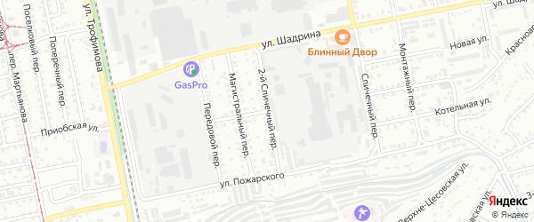 2-й Спичечный переулок на карте Бийска с номерами домов