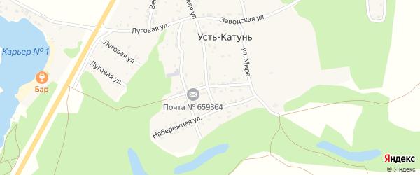 Улица Мира на карте поселка Усть-Катунь с номерами домов