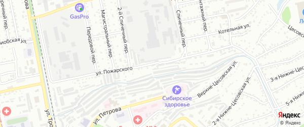 Улица Дмитрия Пожарского на карте Бийска с номерами домов