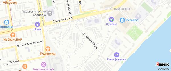 Нижне-Цесовская улица на карте Бийска с номерами домов