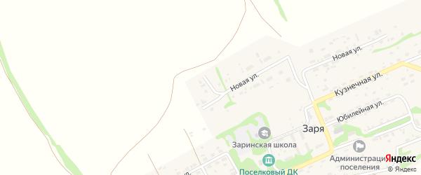 Луговой переулок на карте поселка Зари с номерами домов