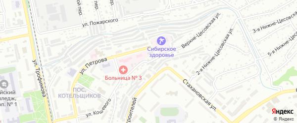 Верхне-Цесовская улица на карте Бийска с номерами домов