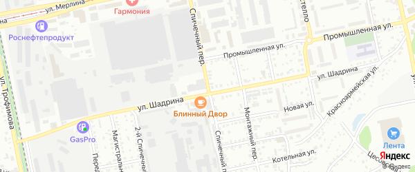 Спичечный переулок на карте Бийска с номерами домов