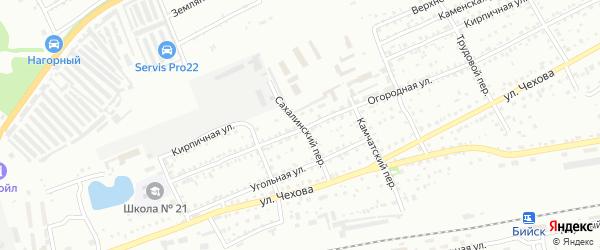 Сахалинский переулок на карте Бийска с номерами домов