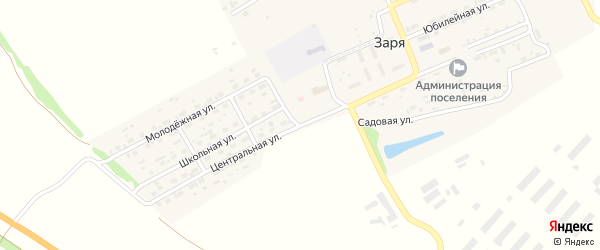 Центральная улица на карте садового некоммерческого товарищества Красного Октября с номерами домов