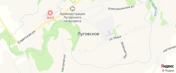 Молодежная улица на карте Луговского села с номерами домов
