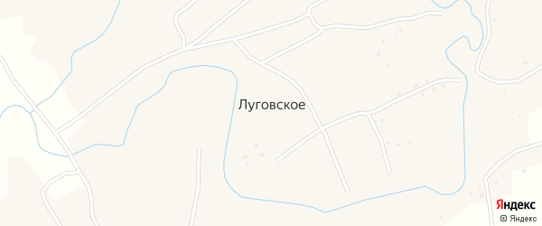 Парковая улица на карте Луговского села с номерами домов