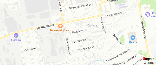 Монтажный переулок на карте Бийска с номерами домов