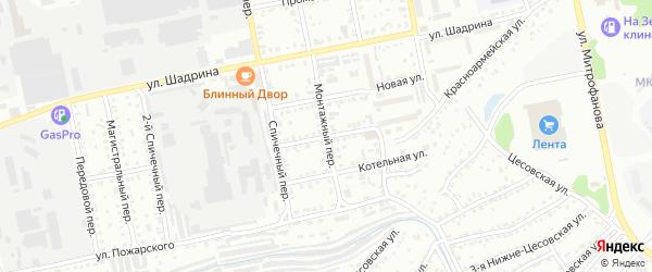 Улица Николая Щорса на карте Бийска с номерами домов