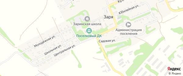 Центральная улица на карте Прибрежного садового некоммерческого товарищества с номерами домов