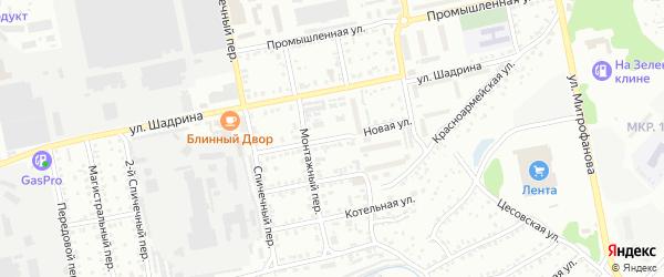 Новая улица на карте садового некоммерческого товарищества Рассвета с номерами домов