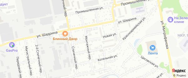 Новая улица на карте Бийска с номерами домов