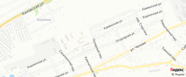 Кирпичная улица на карте Бийска с номерами домов