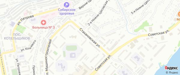 Стахановская улица на карте Бийска с номерами домов