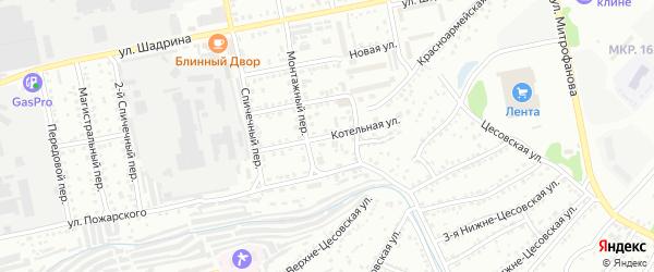 Котельная улица на карте Бийска с номерами домов