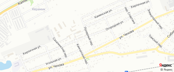 Огородная улица на карте Бийска с номерами домов