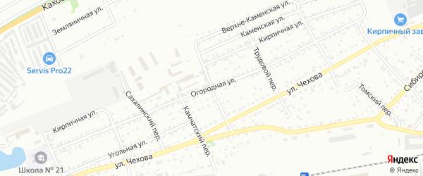 Полярный переулок на карте Бийска с номерами домов