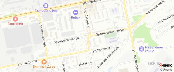 Промышленная улица на карте Бийска с номерами домов