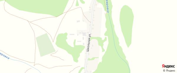 Школьная улица на карте села Старой Чемровки с номерами домов