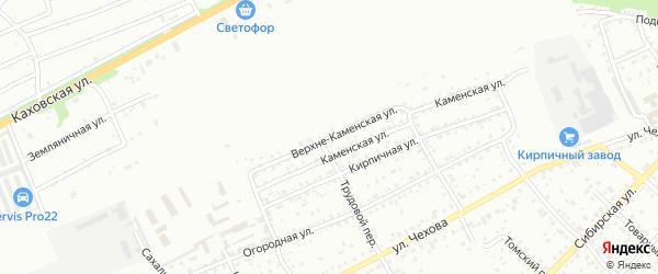 Верхне-Каменская улица на карте Бийска с номерами домов