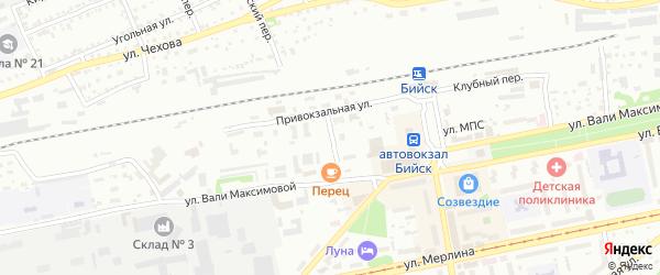 Улица МПС на карте Бийска с номерами домов