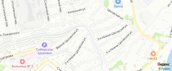 2-я Нижне-Цесовская улица на карте Бийска с номерами домов