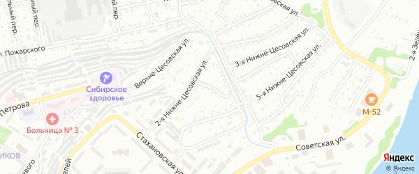 10-я Нижне-Цесовская улица на карте Бийска с номерами домов