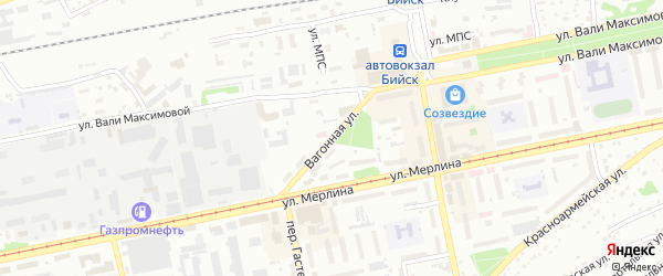Вагонная улица на карте Бийска с номерами домов