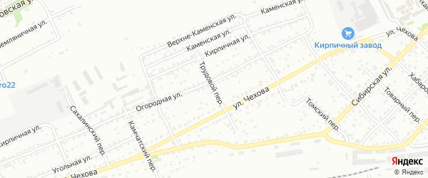 Трудовой переулок на карте Бийска с номерами домов