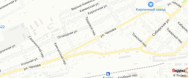 Улица Антона Скалона на карте Бийска с номерами домов