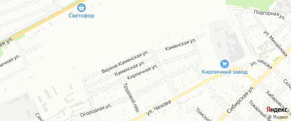 Каменская улица на карте Бийска с номерами домов