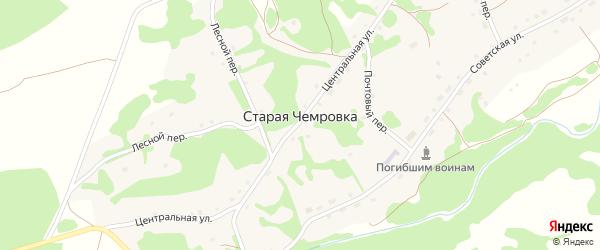 Конторский переулок на карте села Старой Чемровки с номерами домов
