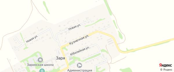 Кузнечная улица на карте поселка Зари с номерами домов