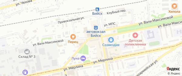 Улица Вали Максимовой на карте Бийска с номерами домов