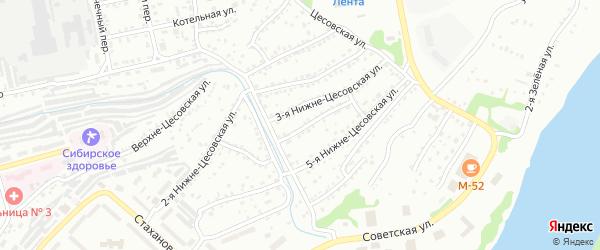 4-я улица на карте садового некоммерческого товарищества N 12 с номерами домов