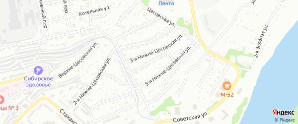 4-я Нижне-Цесовская улица на карте Бийска с номерами домов