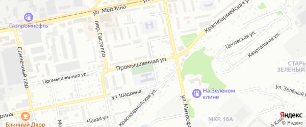 Железнодорожный переулок на карте Бийска с номерами домов