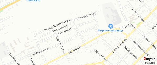 Переулок Спартака на карте Бийска с номерами домов
