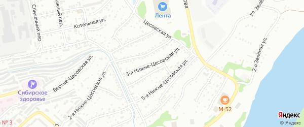 3-я Нижне-Цесовская улица на карте Бийска с номерами домов