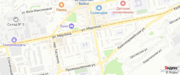 Деповская улица на карте Бийска с номерами домов