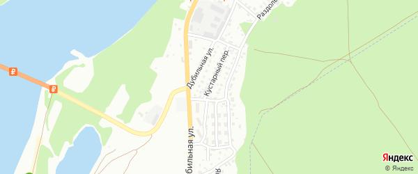 Кустарный переулок на карте Бийска с номерами домов
