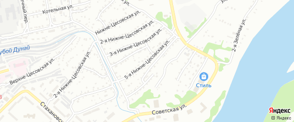 5-я Нижне-Цесовская улица на карте Бийска с номерами домов